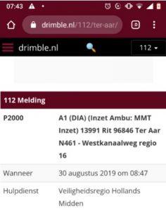 Melding 112 Maarten